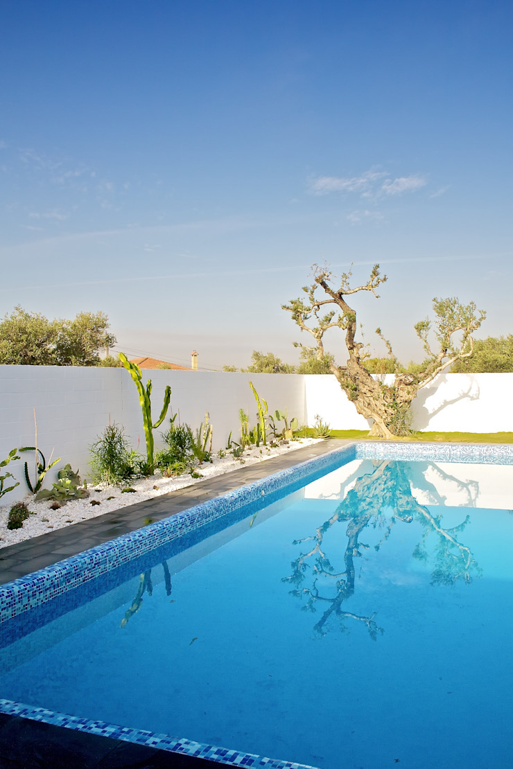 Sánchez-Matamoros | Arquitecto สระว่ายน้ำ หิน White