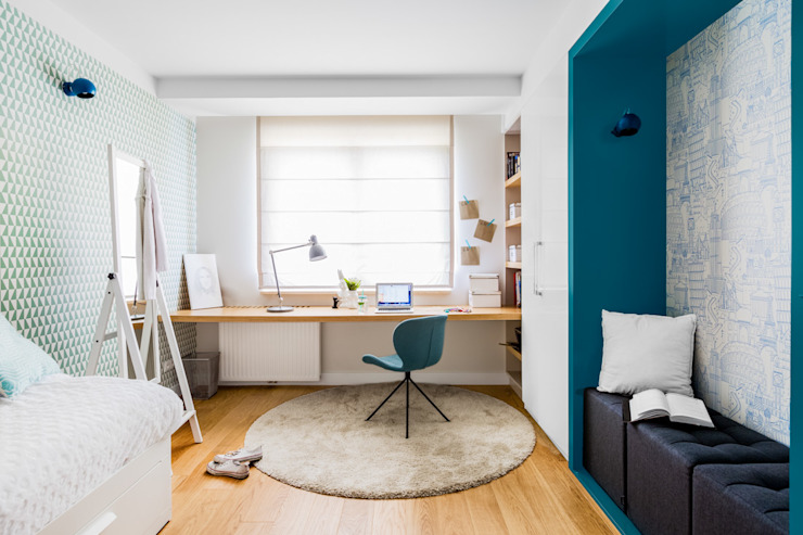 Modern study/office by homify Modern