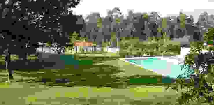 Jardim Vila Nova de cerveira Jardins modernos por Neoturf Moderno