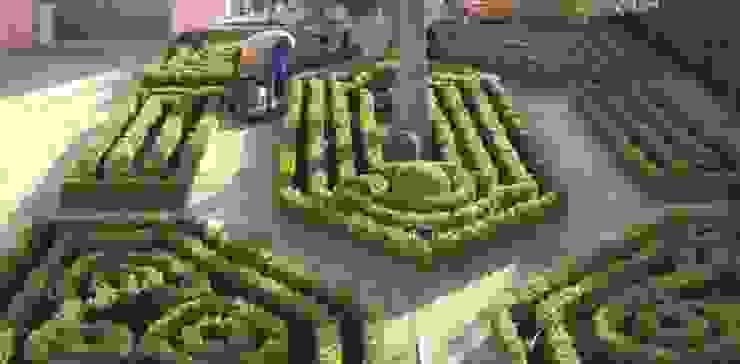 Jardim de habitação particular no Porto Casas de banho rústicas por Neoturf Rústico