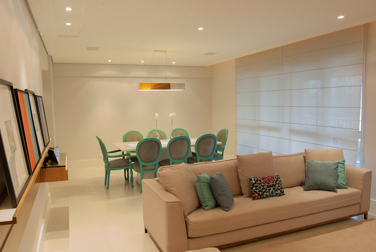 Residência Vale do Paraíba – SP Salas de jantar modernas por ANALU ANDRADE - ARQUITETURA E DESIGN Moderno
