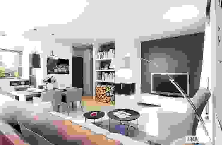 Salon moderne par Pracownia Projektowa ARCHIPELAG Moderne