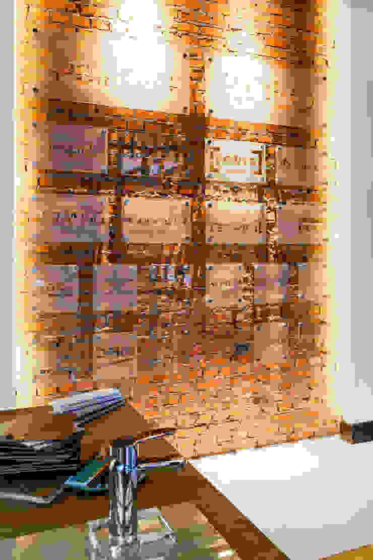 Our photoshoot of Decoroom Architects office od Ayuko Studio Nowoczesny Cegły