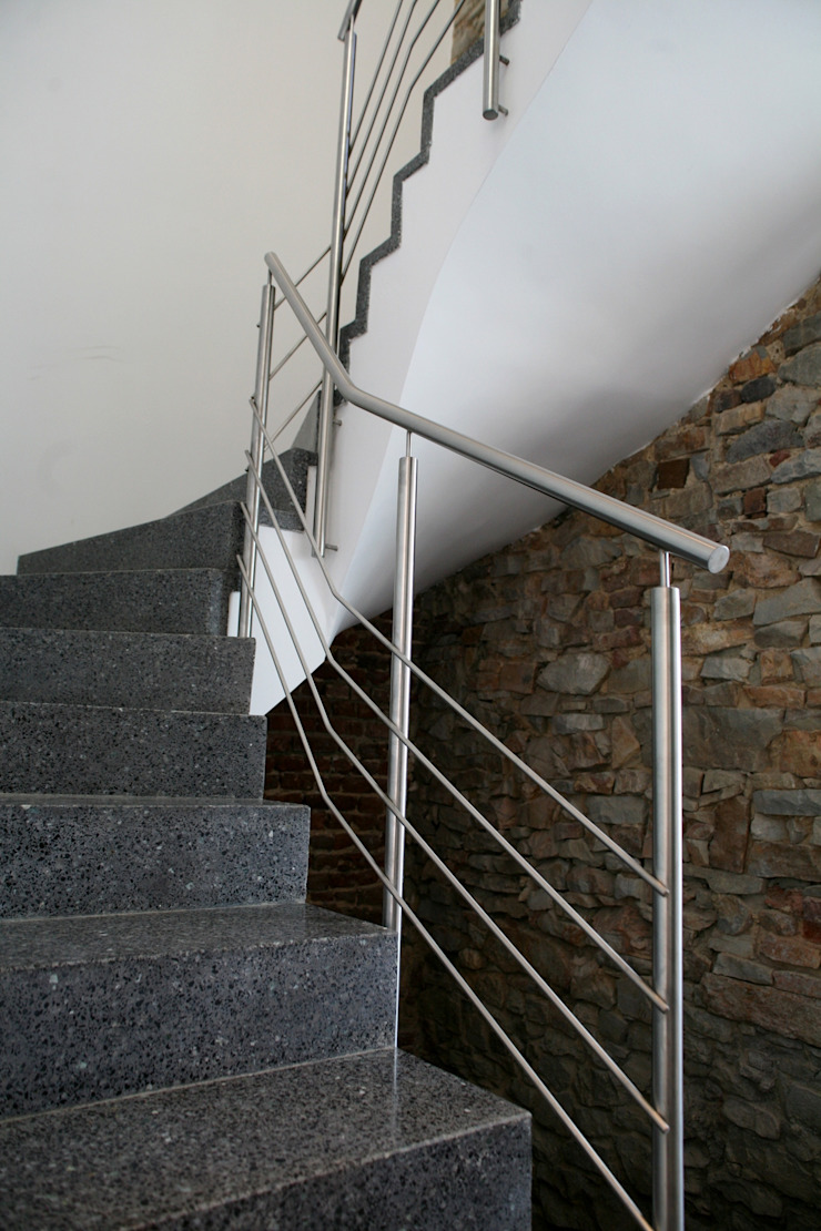 Luc Spits Architecture Corridor, hallway & stairs Stairs