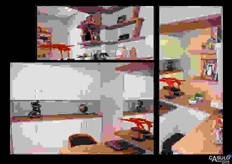 casulo arquitetura design Ruang Studi/Kantor Modern