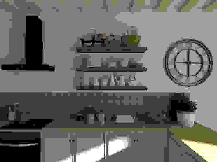 Ferme tarnaise Cuisine rustique par Sandia Design Rustique