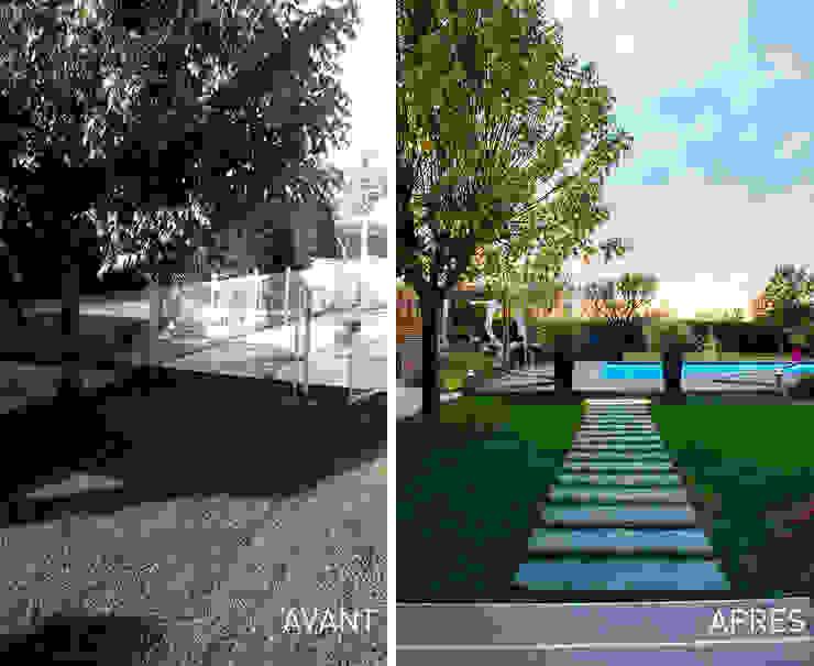 Vườn phong cách hiện đại bởi E/P ESPACE DESIGN - Emilie Peyrille Hiện đại