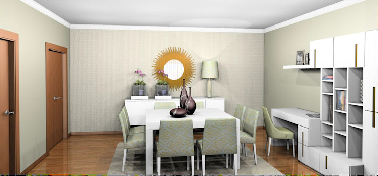 Sala de Estar/Jantar Milãp por BS Interiores
