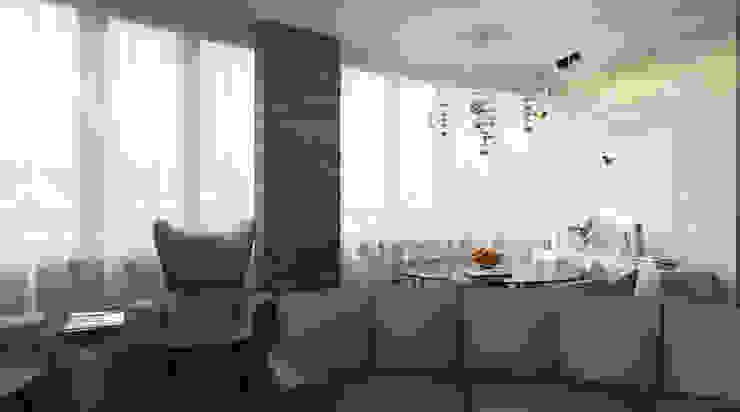 Апартаменты с видом на канал имени Москвы Гостиная в стиле минимализм от Архитектор-дизайнер интерьеров Минимализм