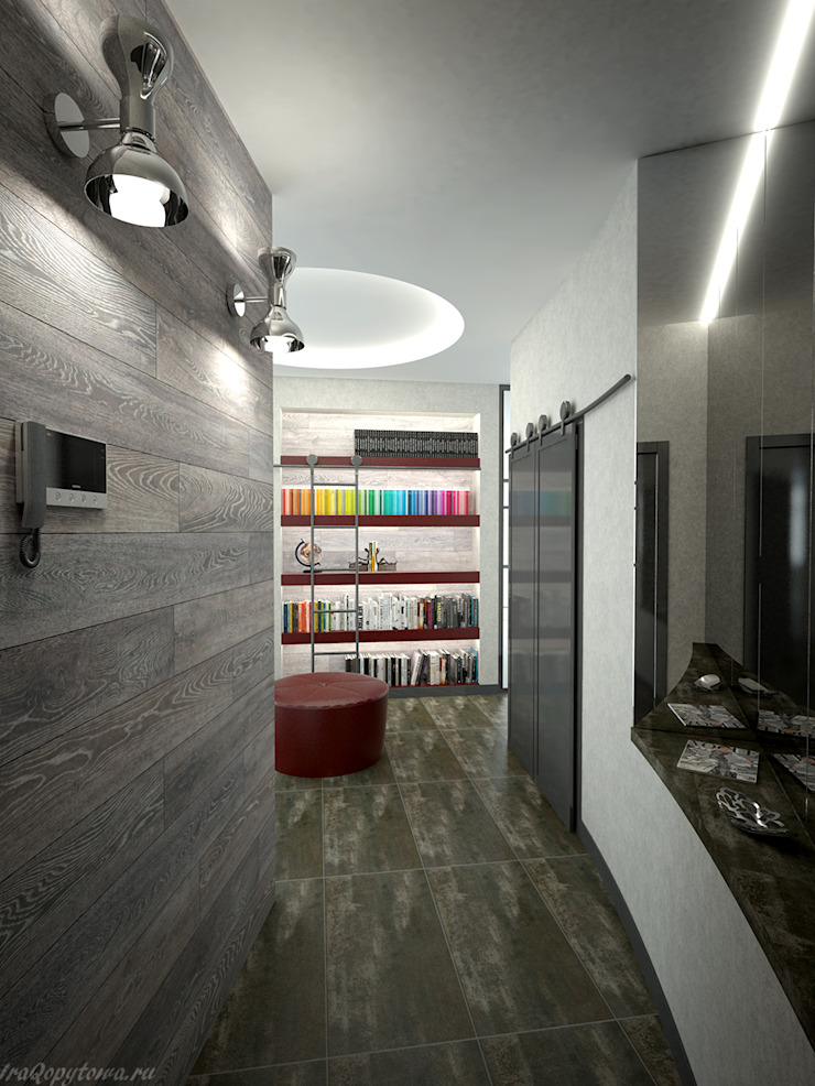Апартаменты с видом на канал имени Москвы Коридор, прихожая и лестница в стиле минимализм от Архитектор-дизайнер интерьеров Минимализм