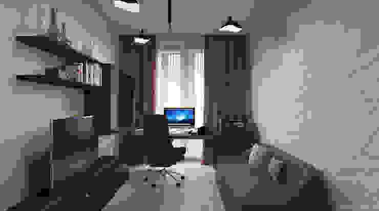 Апартаменты с видом на канал имени Москвы Рабочий кабинет в стиле минимализм от Архитектор-дизайнер интерьеров Минимализм
