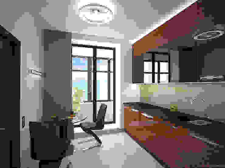 Апартаменты с видом на канал имени Москвы Кухня в стиле минимализм от Архитектор-дизайнер интерьеров Минимализм