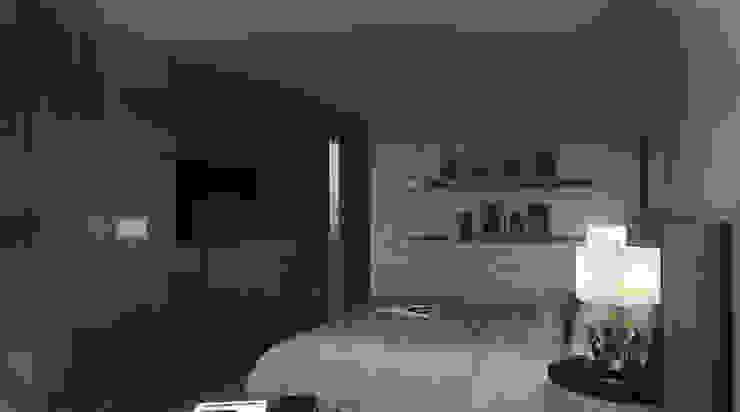 Апартаменты с видом на канал имени Москвы Спальня в стиле минимализм от Архитектор-дизайнер интерьеров Минимализм