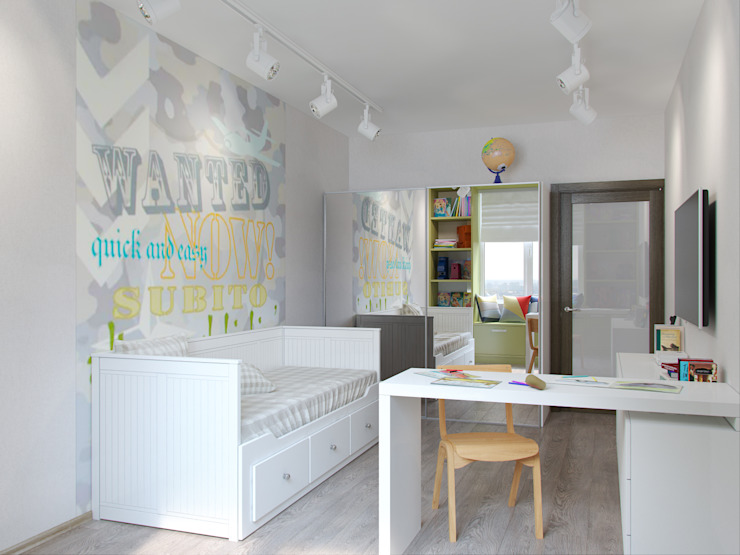 Квартира в силе Ар-деко, ЖК «Гранд Фамилия», 97 кв.м. Детская комнатa в классическом стиле от Студия дизайна интерьера Маши Марченко Классический