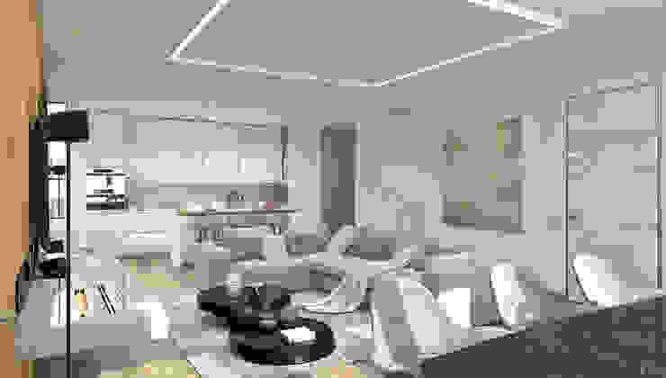 Квартира в ЖК Аэробус Гостиная в стиле минимализм от 1+1 studio Минимализм