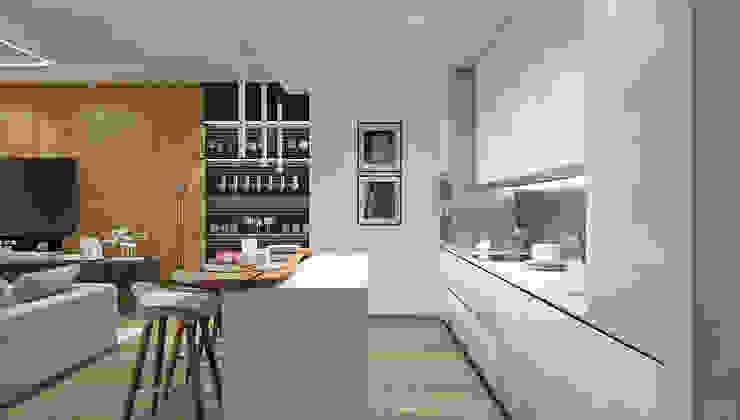 Квартира в ЖК Аэробус Кухня в стиле минимализм от 1+1 studio Минимализм