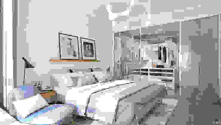 Квартира в ЖК Аэробус Спальня в стиле минимализм от 1+1 studio Минимализм