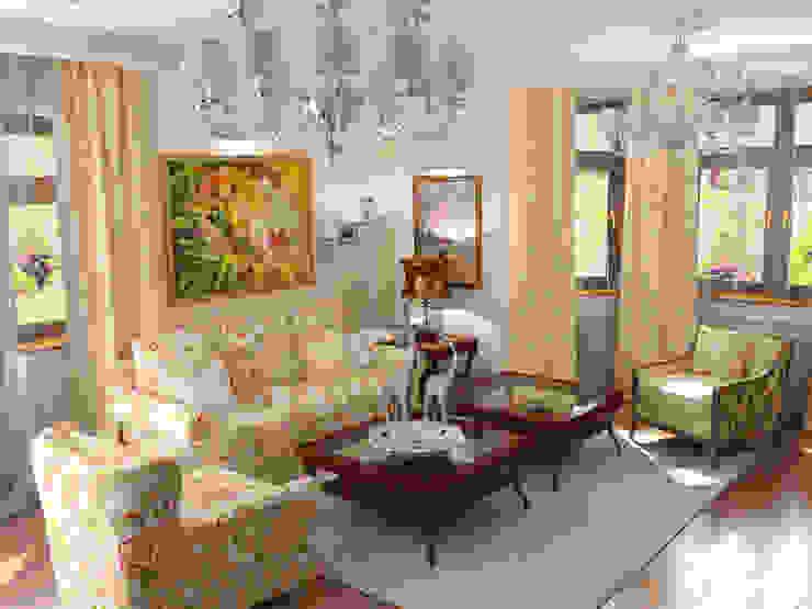 Living room by Архитектурно-дизайнерская компания Сергея Саргина, Country