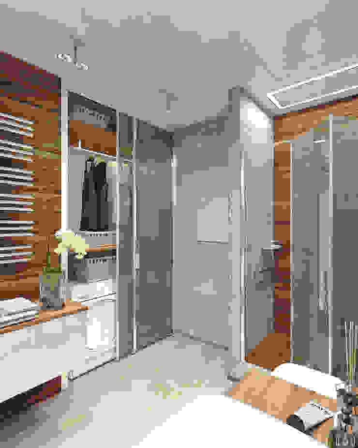 Квартира в ЖК Аэробус Ванная комната в стиле минимализм от 1+1 studio Минимализм