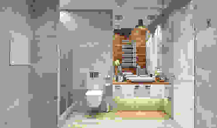 Salle de bains de style  par 1+1 studio,