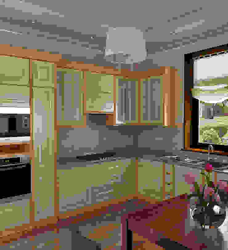 Загородный дом Киевское шоссе. Кухня в стиле кантри от Архитектурно-дизайнерская компания Сергея Саргина Кантри