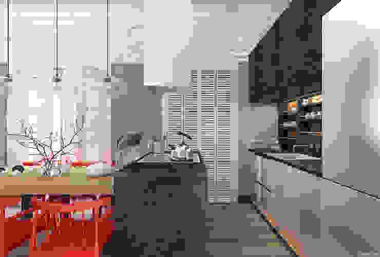 1+1 studio Cocinas de estilo ecléctico