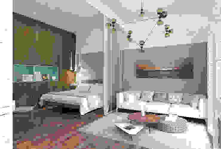 1+1 studio Dormitorios de estilo ecléctico