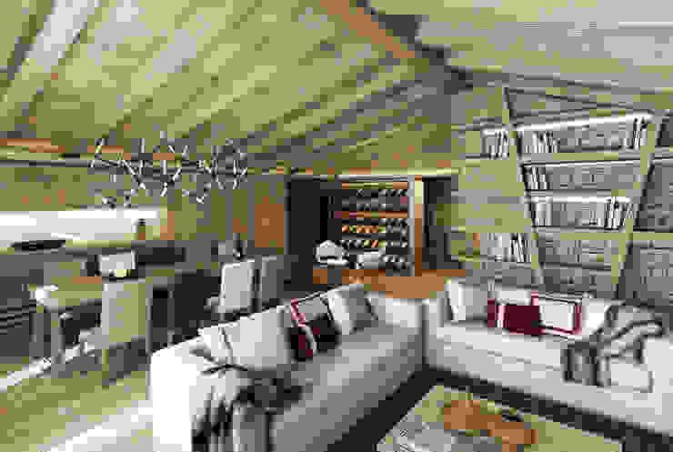 Salones de estilo rural de Avogadri simone archi3d Rural