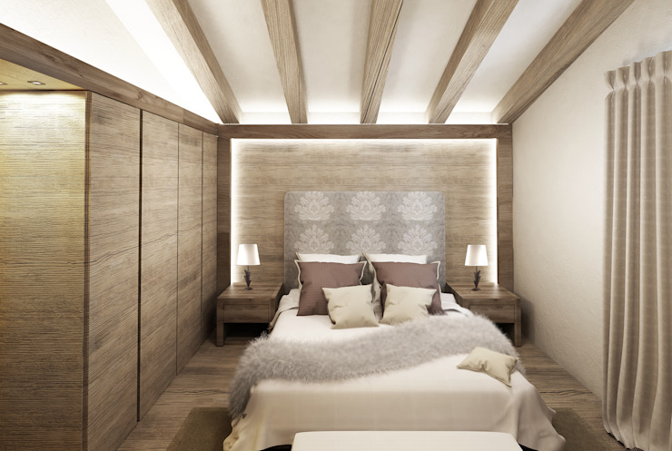 Dormitorios de estilo rural de Avogadri simone archi3d Rural