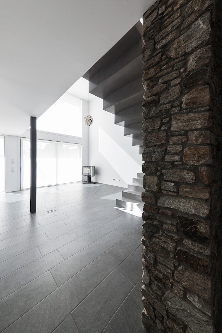 AD+ arquitectura Modern living room Stone Brown