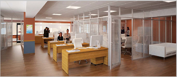 Офис компании Agbor Moscow 150 кв.м.. Очаковское шоссе. Офисные помещения в стиле минимализм от Архитектурно-дизайнерская компания Сергея Саргина Минимализм