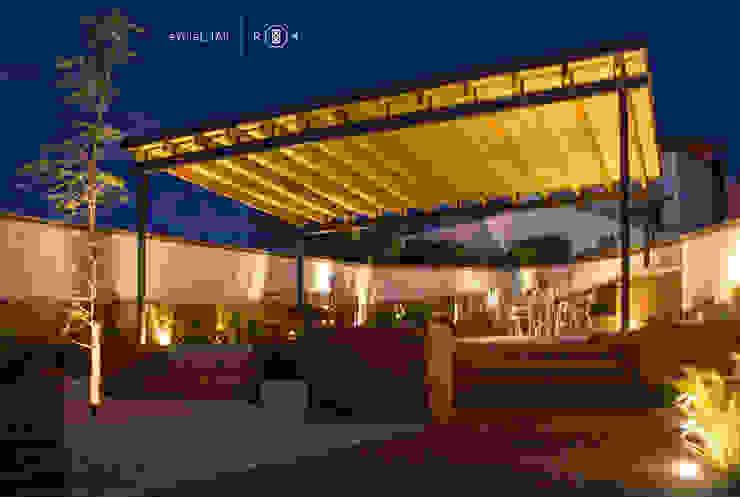 Jardín de noche Jardines minimalistas de Región 4 Arquitectura Minimalista
