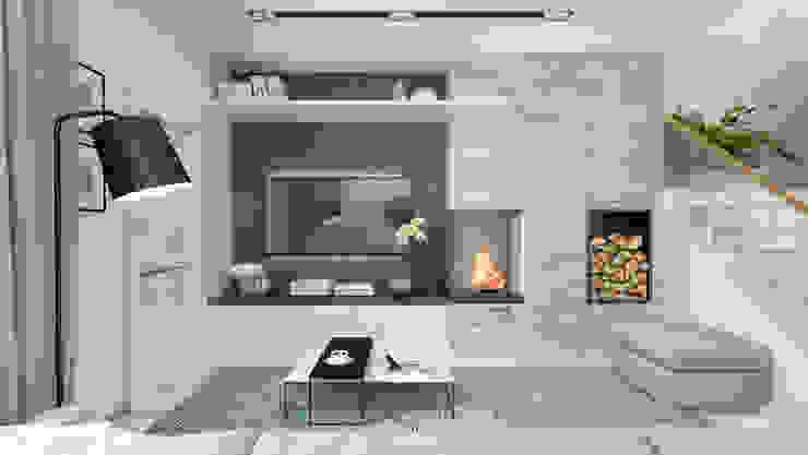 1+1 studio 现代客厅設計點子、靈感 & 圖片