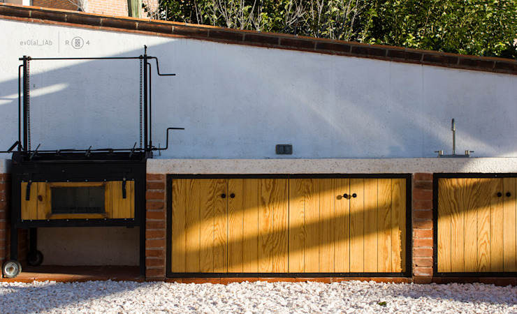 Asador y barra de Región 4 Arquitectura Minimalista