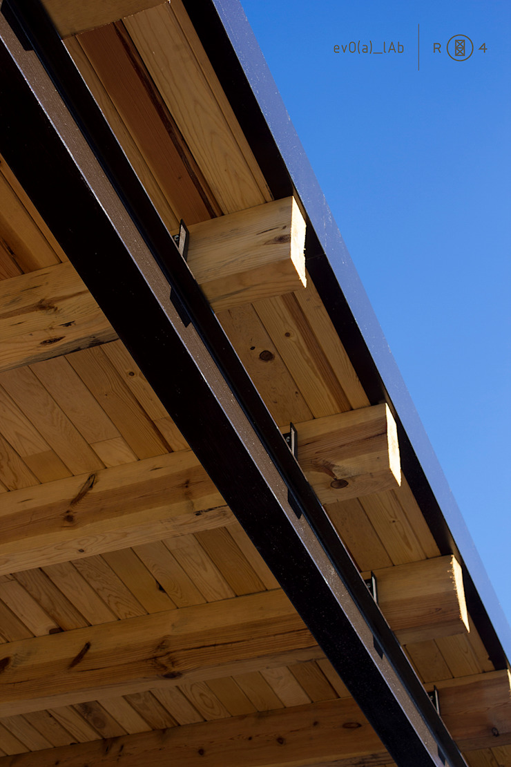 Detalle techo Región 4 Arquitectura JardínPérgolas, toldos e invernaderos