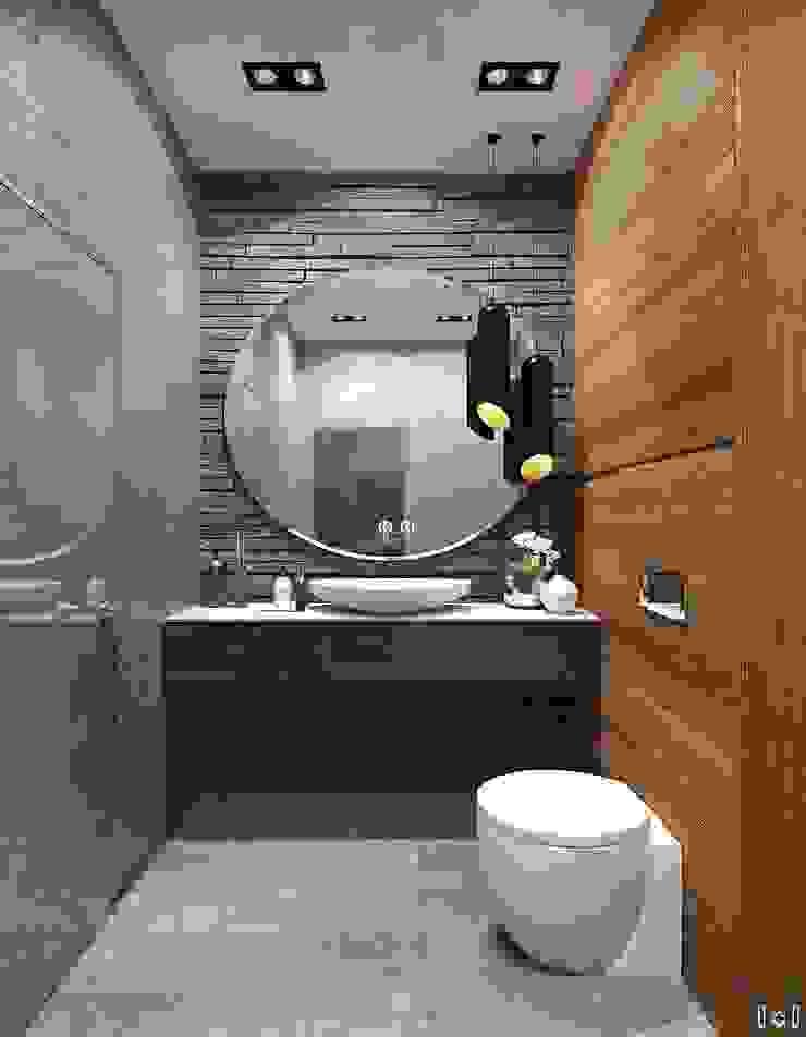 1+1 studio 現代浴室設計點子、靈感&圖片