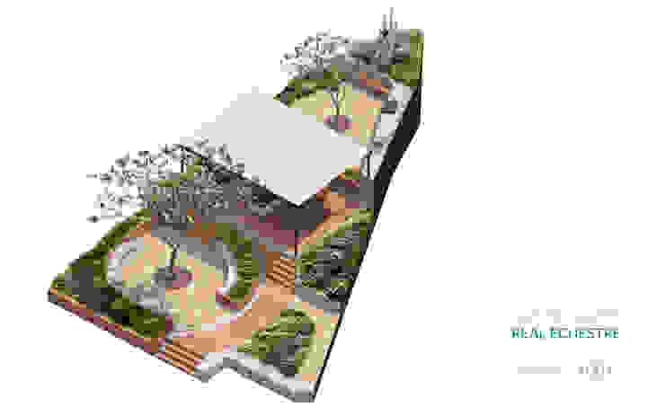 Isométrico diseño de jardín de Región 4 Arquitectura Minimalista