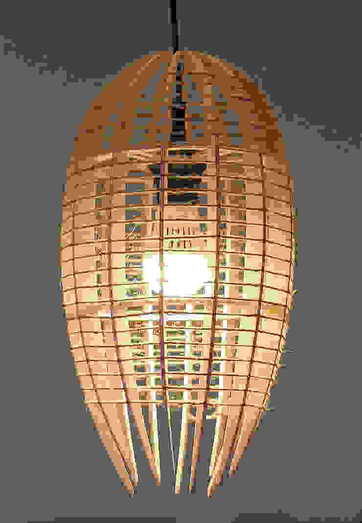 Люстра-светильник <q>КОКОН</q> от Чудо дерево Лофт Фанера