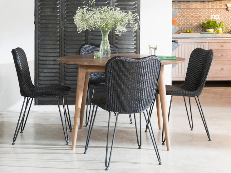 VINCENT SHEPPARD - CHRISTY DINING CHAIR Viva Lagoon Ltd Dining roomChairs & benches Natural Fibre Black