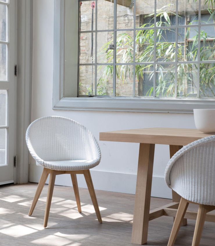 VINCENT SHEPPARD JACK DINING CHAIR WITH OAK LEGS Viva Lagoon Ltd Dining roomChairs & benches Wood White