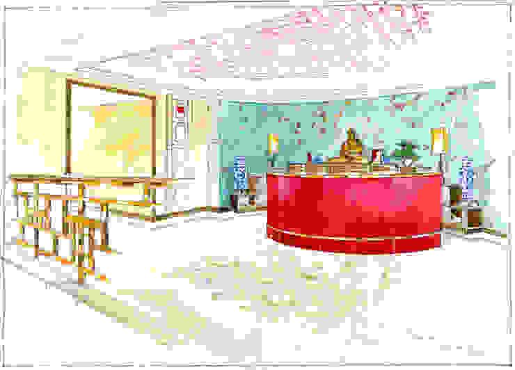Клиника Китайской медицины в Москве. от Архитектурно-дизайнерская компания Сергея Саргина Азиатский