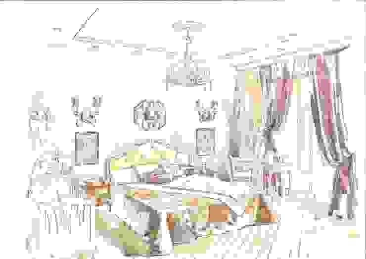 Classic style bedroom by Архитектурно-дизайнерская компания Сергея Саргина Classic