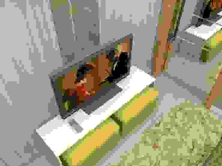 PROJETO 3D Quartos modernos por Claudia Fonseca Designer de Interiores Moderno