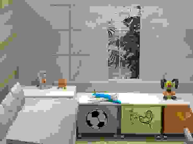 PROJETO 3D Quarto infantil moderno por Claudia Fonseca Designer de Interiores Moderno