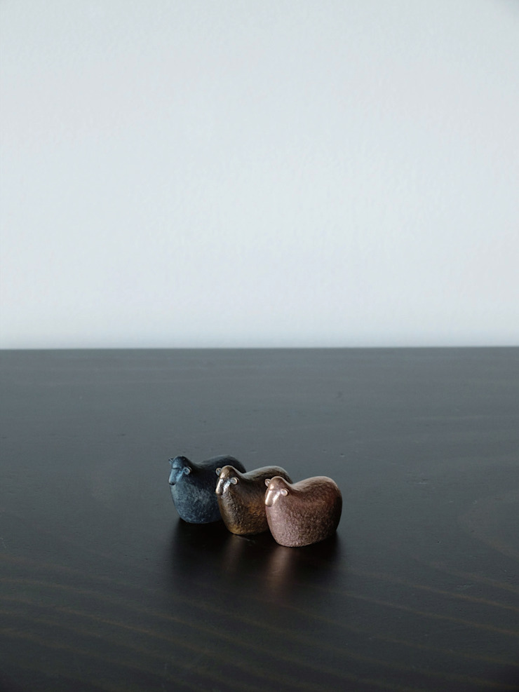 林悠介デザイン原型の干支シリーズ ヒツジ: 大寺幸八郎商店が手掛けた折衷的なです。,オリジナル 銅/ブロンズ/真鍮