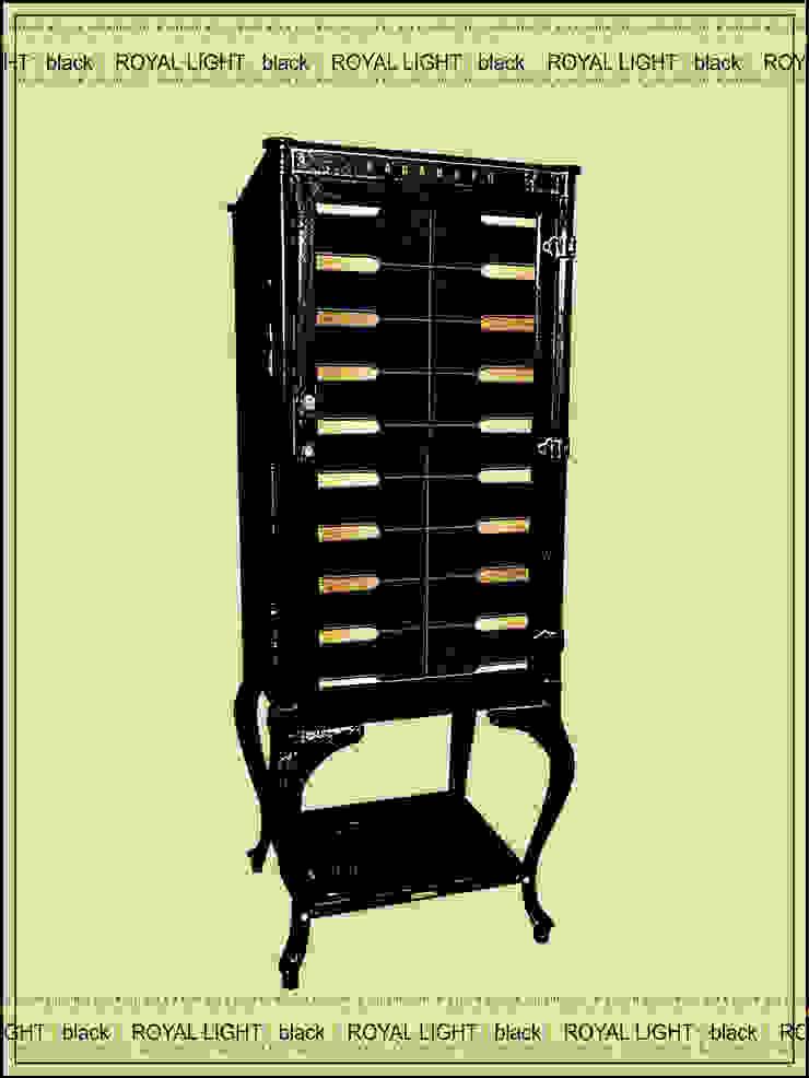 Металлический шкаф - ROYAL LIGHT [black] от KAGADATO Лофт Железо / Сталь