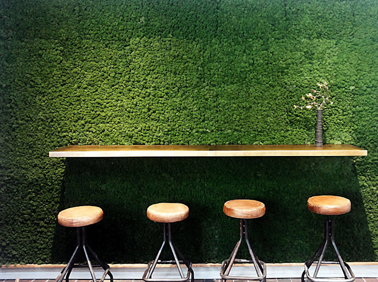 muschio e ottone conscious design - interiors Bar & Club in stile industrial Metallo Verde