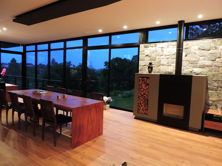 Country style dining room by UNION Architectural Concept Country Stone