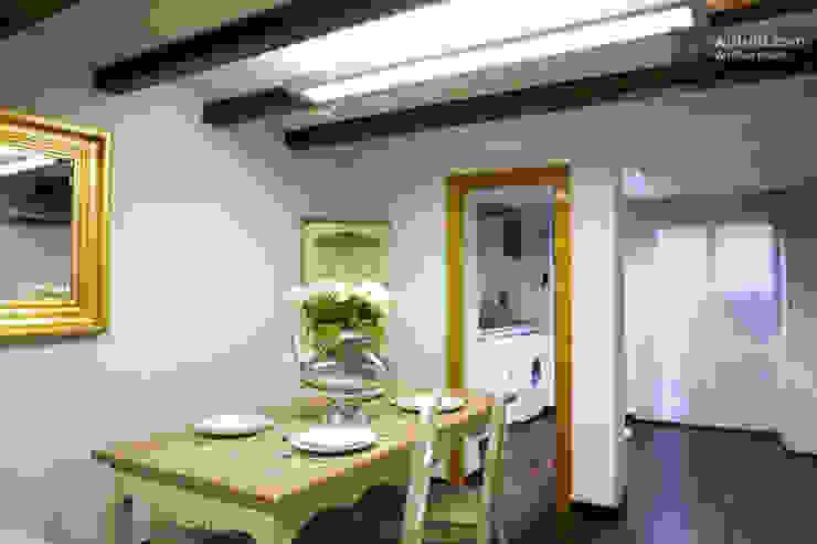 Comedor abierto a la cocina y salón Upper Design by Fernandez Architecture Firm Colonial style dining room
