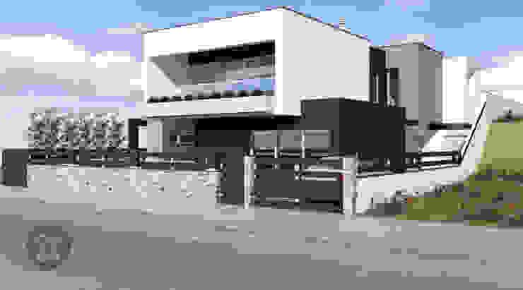 Moradia Unifamiliar - Charneca de Caparica Casas modernas por ATELIER OPEN ® - Arquitetura e Engenharia Moderno